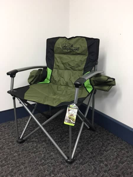 Deluxe Hard Arm Camp Chair 150kg Rated Mnf 4x4